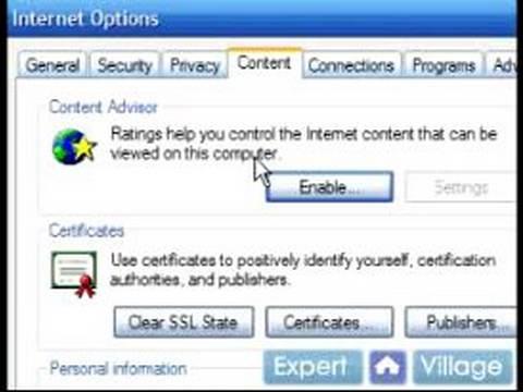 Nasıl Internet Explorer 7 Kullanmak İçin: & 'nin İçerik Danışmanı\Internet Explorer Ayarını Devre dışı bırakma