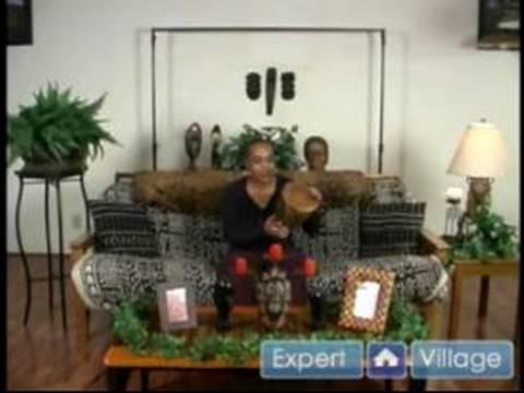 Afrika Temalı Dekorasyon : Davul Afrikalı Bir Tema Süslemek İçin Ekle