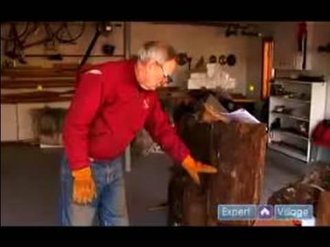 Ahşap Bir Splitter Nasıl Kullanılır : Kullanımı Wood Splitter Kullanırken Güvenli Bir Şekilde Günlükleri