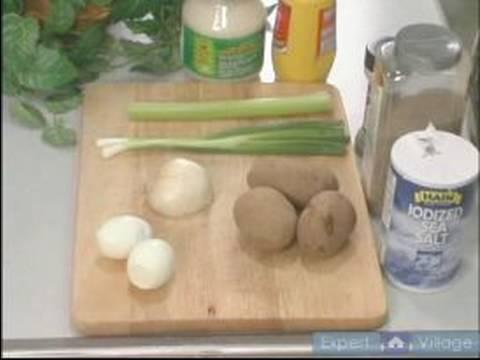 Creole Patates Salatası Tarifi Talimatları: Creole Patates Salatası Malzemeler