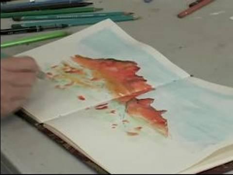 Nasıl Suluboya Resim Bir Dergi Oluşturmak İçin : Suluboya Bir Dergide Yeşillik Ekleyerek