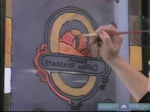 Pencere Duvar Resimleri Boyamak İçin Nasıl : Pencere Bir Duvar Üzerinde Logosu Boya Nasıl