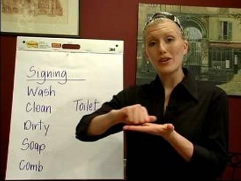 İşaret Dili Dersleri: Ortak Deyimler: İfadeler İşaret Dili Temizleme