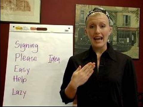 İşaret Dili Dersleri: Ortak Deyimler: Nasıl İşaret Dili Ortak Deyimler İmzalamak İçin