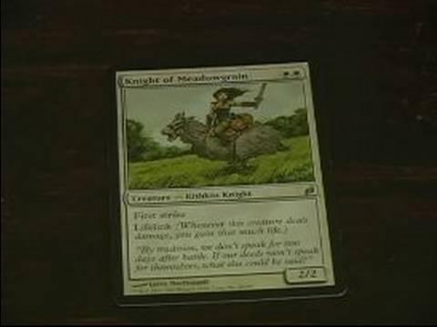 Magic The Gathering: Beyaz Kartları: Meadowgrain Beyaz Şövalyesi Kartı Büyüye Toplama