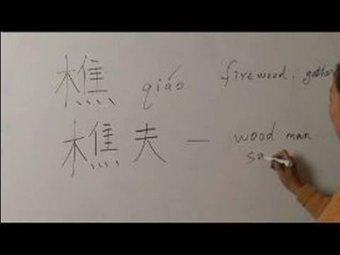 Nasıl Ahşap Çin Radikal İle Yazılır: Bölüm 6: Çincede 'odun' Yazmak İçin Nasıl