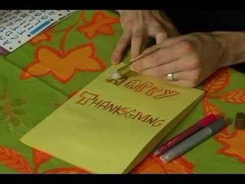 Nasıl Şükran Günü Kartları Yapmak: Şükran Günü Kartlarına Bir Tutkal Kalem Kullanma