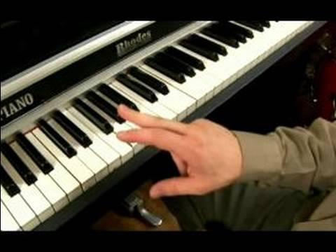 Blues F Anahtarında Piyano: F Binbaşı Blues Ölçeği 1 Akor Üzerinde Piyano