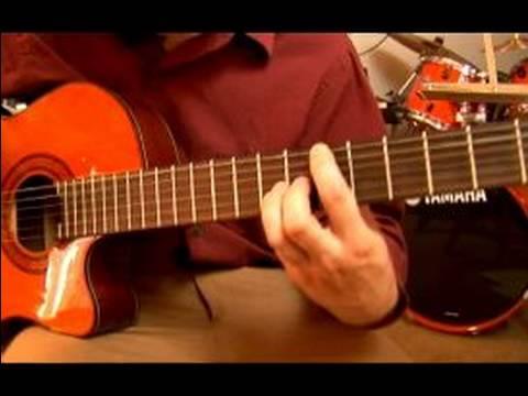 Bossa Nova Bir Majör Gitar : 5 Ve 6 Önlemler: Bir Majör Gitar, Bossa Nova