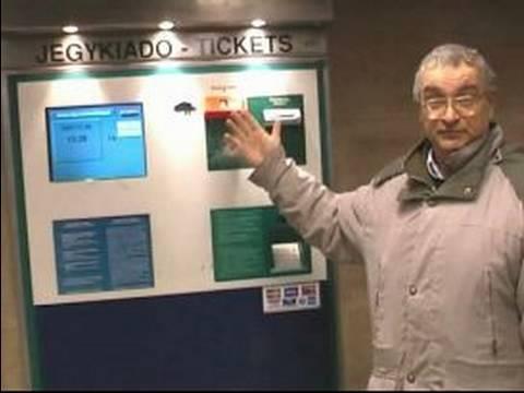 Budapeşte, Macaristan Metro Sürme : Budapeşte Metro Kullanarak Bilet Makineleri