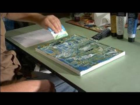 Nasıl Eviniz İçin Soyut Bir Resim Oluşturmak İçin : Ev İçin Soyut Resimler İçin Boya Ekleyerek