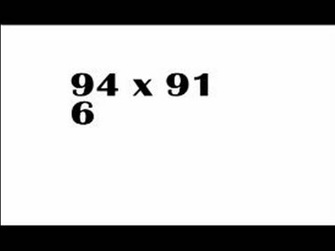 Kafanın İçinde Matematik Yapmak İçin Nasıl Daha Hızlı Çarpma Teknikleri
