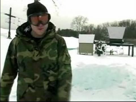 Parkta Snowboard Hile Yapmak Nasıl Bir Snowboard Üzerinde Ollie Küçük Bir Tepe Nasıl