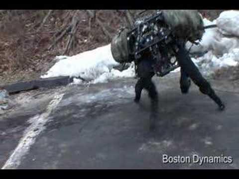 Boston Dynamics Büyük Köpek (Yeni Video Mart 2008)
