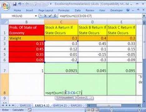 Excel Dizi Formülü Serisi 14,1: Hisse Senedi Döndürür