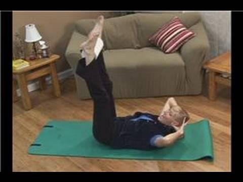Kağıt Havlu Fitness Egzersizleri: Anasayfa Pilates Egzersizleri: Çift Bacak Kaldırma