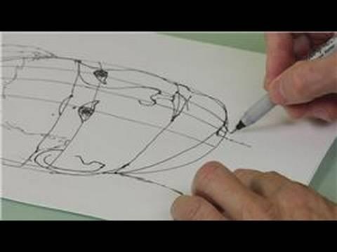 Bir Izgara İle Yüz Çizim : Bir Yüz Çizim Çene Ve Boyun
