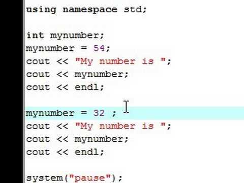 C++ Eğitimi - 4 - Değiştirme Değişkenleri İçin Yeni Değerler