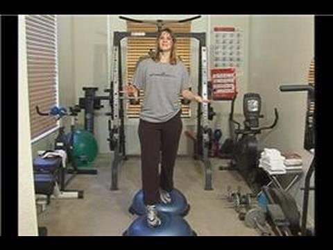 Bosu Ball Denge Egzersizleri : Bosu Topu Çalışan Geçişler