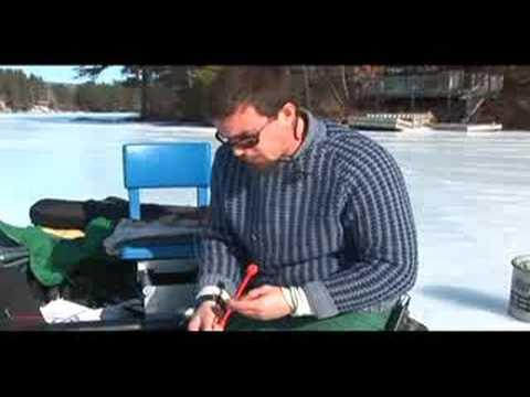 Buz Balıkçılığı Ve Balık Yakalamak Serbest Bırakmak İçin Nasıl Buz Balıkçılık: Bir Balık Kanca Kaldırma