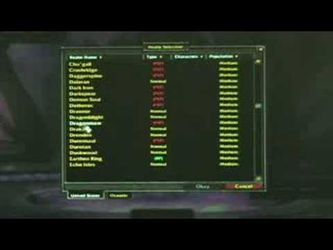 """""""world Of Warcraft"""" Temelleri: """"world Of Warcraft"""" Bir Bölge Seçmek"""