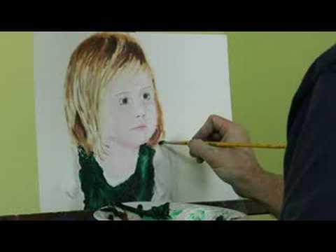 Yağlıboya Resim: Kız Portre: Yağlıboya Resim: Bluz Kenarlarına Tanımlama