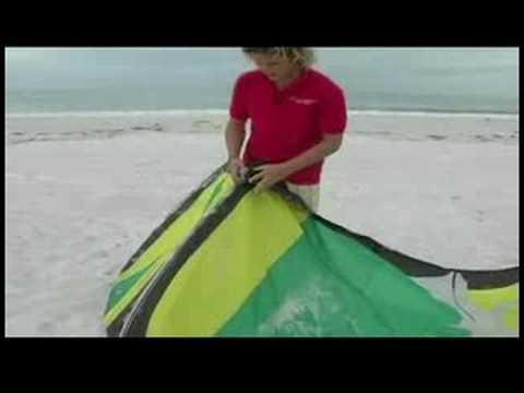 Başlangıç Kiteboarding: Uçurtma Ve Satırlardan Önce Kiteboarding Kontrol Çift