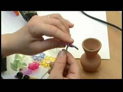Çiçek Boncuklu Bir Buket Yapma : Boncuklu Çiçekler Kök Yapıştırma