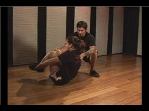Kickboks Fitness İçin Karın Egzersizleri: Kickboxing Fitness: Tam-Ab Crunch