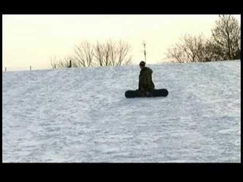 Nasıl Bir Snowboard Üzerinde Durdurmak İçin : Düşmek Nasıl Yan Ayak Snowboard Dur: