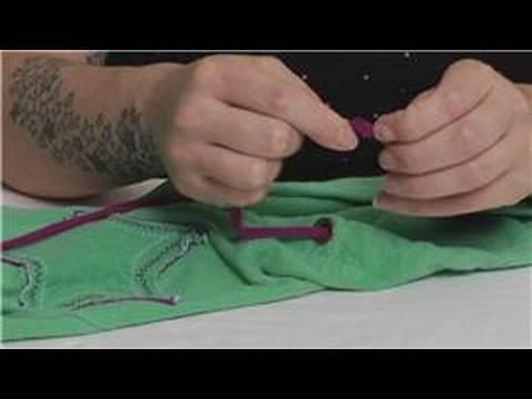 Restring Nasıl Bir İpli : Drawstrings Restringing Zaman Knot Yapmak
