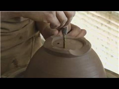 Kil Berry Bir Kase Yapım : Kil Çömlek Delik Delme