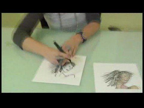 Moda Saç Modelleri İçin Kroki Çizim: Kroki Saç Modelleri: At Kuyruğu Taşıma