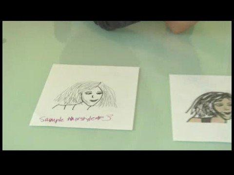 Moda Saç Modelleri İçin Kroki Çizim: Kroki Saç Modelleri: Uzun Yan Kask Kesim