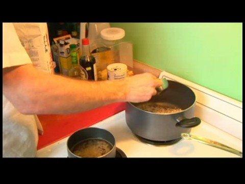 Tatlı Ekşi Tavuk Tarifi : Pirinç Sebze Suyu Ekleyerek