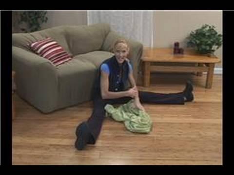 Havlu Egzersizleri Ve Uzanıyor : Havlu Egzersizleri: Çifte Streç