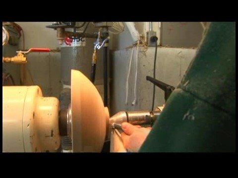 Woodturning: Torna Ve Zımpara Bir Kase : Woodturning: Kase İzleri Temizleniyor