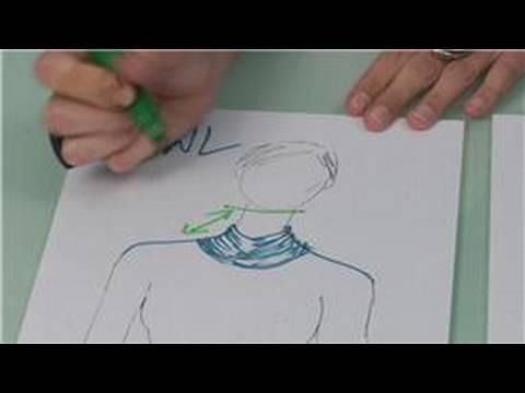 Balıkçı Yaka Yaka Moda Tasarımları, Moda Balıkçı Yaka Çizim: Baca Şapkası Boyun Tasması