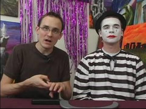 Cadılar Bayramı İçin Bir Kostüm Mıme Nasıl : Mıme Cadılar Bayramı Kostümü İçin Sahne