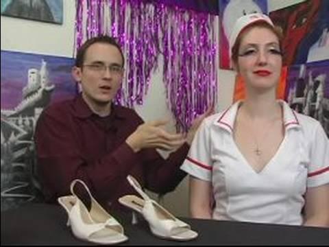 Cadılar Bayramı İçin Seksi Hemşire Kostümü Nasıl Yapılır : Seksi Hemşire Kostümleri Ayakkabı