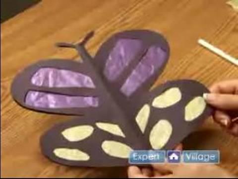 Doku Kağıt El Sanatları Yapmak İçin Nasıl : Kağıt Mendil Bir Kelebek Yapmak İçin Nasıl