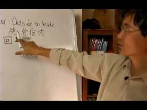 İnme Sırası: Çince Karakterler Yazmak İçin Nasıl : Dışardan İçeri Çince Yazmak İçin Daha Fazla Yol