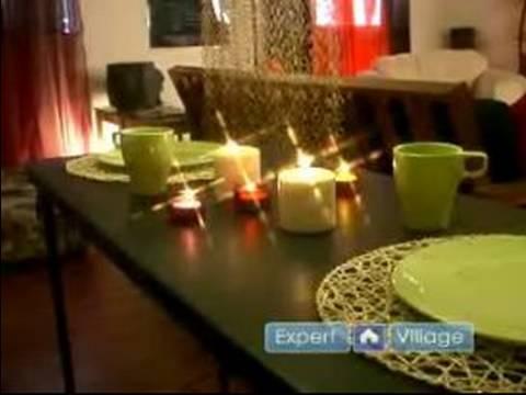 Bir Çatı Katı Daire Süslemek İçin Ucuz Yolu: Nasıl Mumlar İle Bir Yemek Odası Masa Süslemeleri