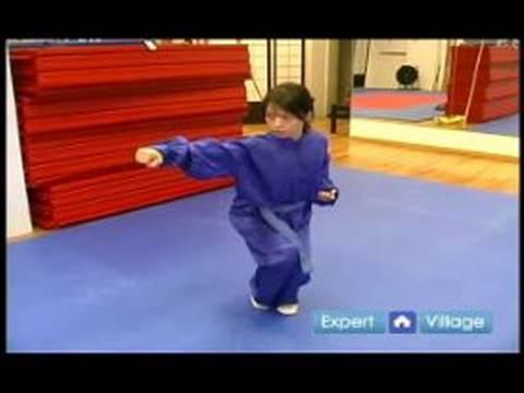 Wushu Yay Duruşu Çapraz Yumruk Nasıl Wushu Tekniklerini Acemi :