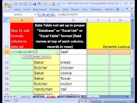 Excel Sihir Numarası #148: Dinamik Liste Üzerinden Tablo #3
