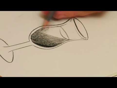 Conte Crayon Net Bir Cam Nasıl Çizmek İçin Çizim Dersleri :