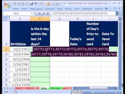 Excel Büyü Hüner 165 P 1 Makroyu Gelişmiş Filtre Extract B-Gün