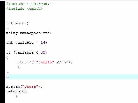 C++ Eğitimi - 17 - İf Deyimi