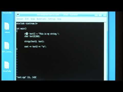 C Strcpy İşlevi Nasıl Eğitim Bilgisayar :