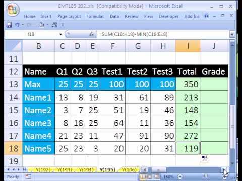 Excel Sihir Numarası #195: En Düşük Puanı Çıkarır Not Defteri